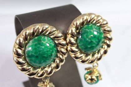 vintage-yves-saint-laurent-vintage-gold-plated-and-green-glass-stone-earrings