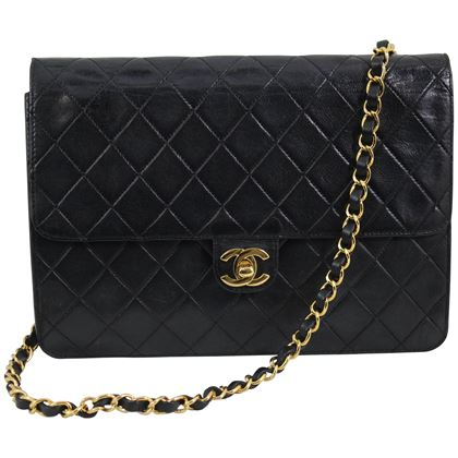 vinatge-chanel-black-leather-shoulder-bag-new-clasp-and-chain-2