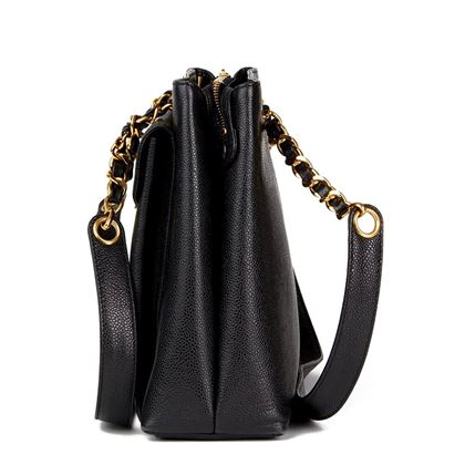 black-caviar-leather-vintage-classic-shoulder-bag-4
