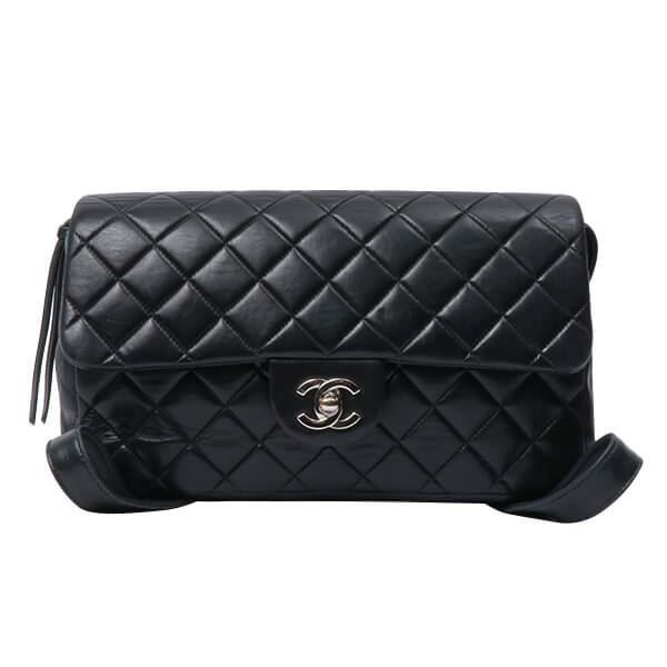 Chanel Classic Flap Backpack Black Silver 17bcd9afe4761