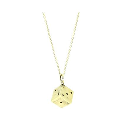 vintage-1970s-9ct-yellow-gold-dice-charm-necklace