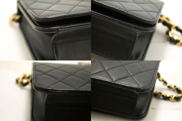 chanel-small-chain-shoulder-bag-black-clutch-flap-quilted-lambskin-8
