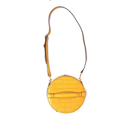 mulberry-crocodile-embossed-trunk-box-shoulder-bag-mustard-yellow-leather-pre-owned-used