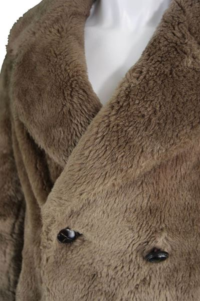 Astraman 1970s Double Breasted Men's Faux Fur Coat