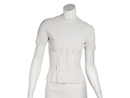 white-alaia-stretch-short-sleeve-top
