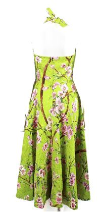dolce-gabanna-gown-lime-tapestry-cherry-blossom-print-halter-40-us-2-pre-owned-used