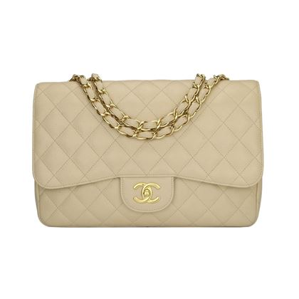 chanel-single-flap-jumbo-beige-clair-caviar-gold-hardware-2009-2