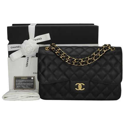 chanel-double-flap-jumbo-black-caviar-gold-hardware-2017