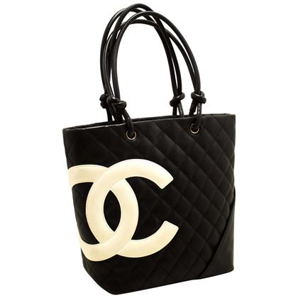 chanel-cambon-tote-small-shoulder-bag-black-white-quilted-calfskin-2