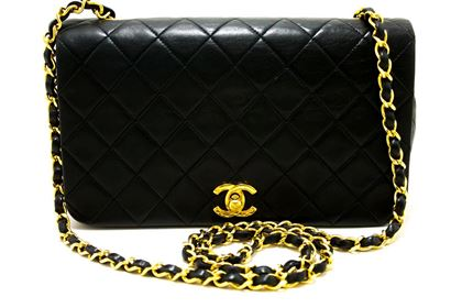 chanel-chain-shoulder-crossbody-bag-black-flap-quilted-lambskin-2