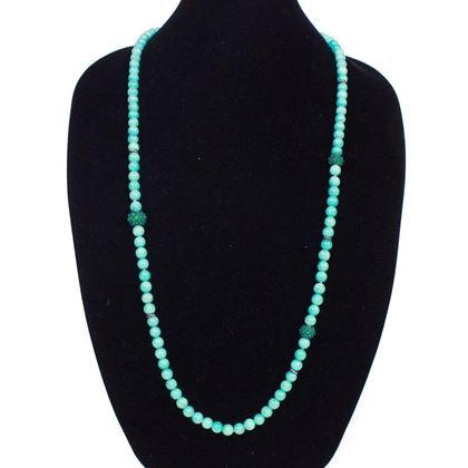 david-yurman-blue-pearl-necklace-amazonite-green-onyx-cable-berries-new