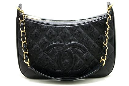 chanel-caviar-chain-one-shoulder-bag-black-quilted-leather-zipper-6