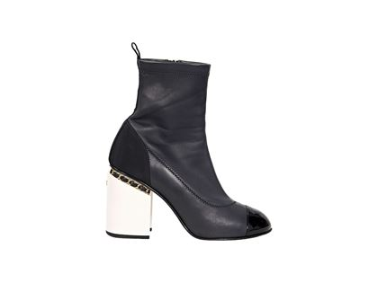 dark-navy-white-chanel-leather-ankle-boots