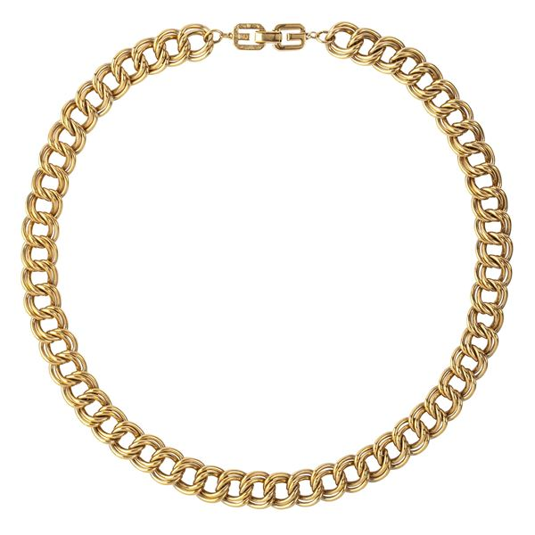 1980s-vintage-givenchy-double-chain-link-necklace-3