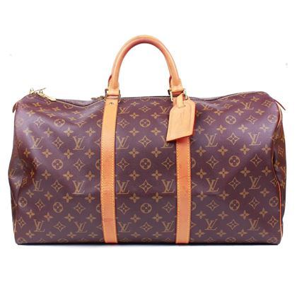 louis-vuitton-keepall-45-duffle-bag-brown-monogram-canvas-luggage-pre-owned-used