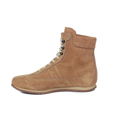 hermes-boots-lace-up-sneakers-tan-high-top-h-logo-suede-womens-365-us-65-new