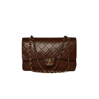 chanel-brown-bi-colour-medium-flap-bag-with-gold-hardware