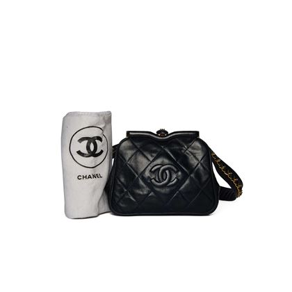 chanel-navy-quilted-waist-bag
