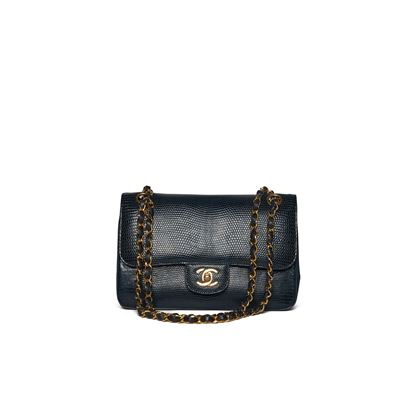 chanel-navy-lizard-flap-bag-with-gold-hardware