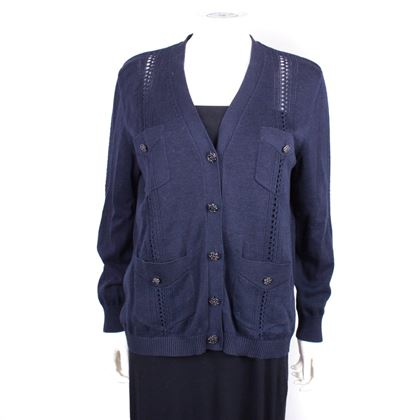 chanel-2017-cotton-cardigan-4-pocket-navy-blue-cc-buttons-44-us-12-pre-owned-used
