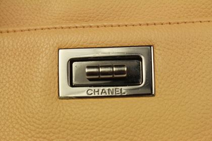 chanel-caviar-cerf-tote-tan-leather-bag-mademoiselle-silver-reissue-executive