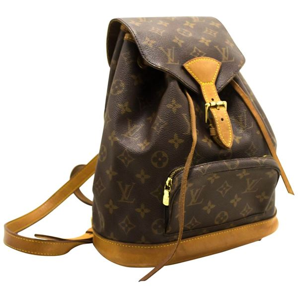 2074fbfed014 Louis Vuitton Montsouris MM Monogram Backpack Bag Canvas Leather