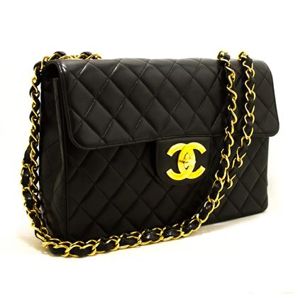 chanel-jumbo-11-large-chain-shoulder-bag-flap-lambskin-black-3