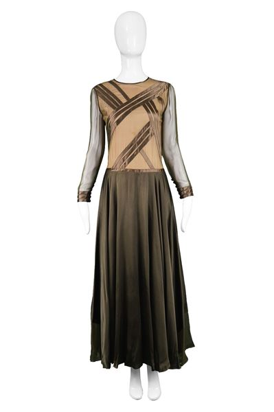 Louis Feraud 1970s Haute Couture Vintage Silk Dress
