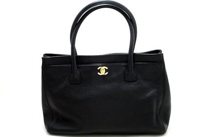 chanel-executive-tote-caviar-shoulder-bag-handbag-black-gold-4