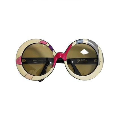 b267bc69dc7d EMILIO PUCCI 1960s Vintage Round Oversized Sunglasses Shades