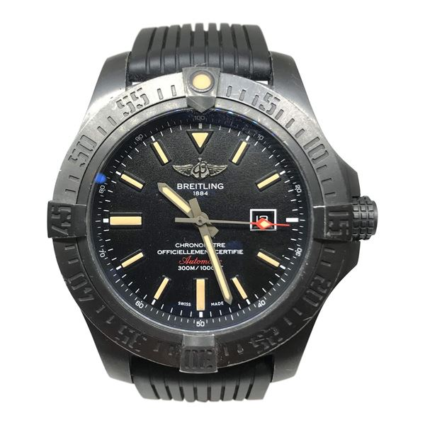 Breitling Avenger Blackbird Stainless Steel Mens Watch