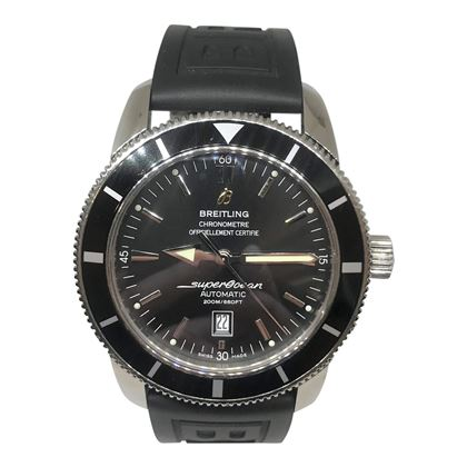 Breitling Superocean Mens Watch with Breitling Branded Rubber Strap