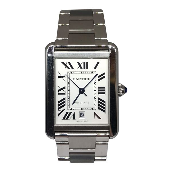 Cartier Tank Solo XL Stainless Steel Mens Watch