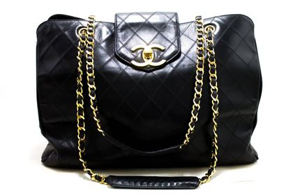 chanel-super-model-jumbo-large-chain-shoulder-bag-black-calfskin