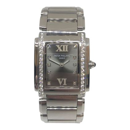 Ladies square Patek Philippe Watch with Diamond Surround