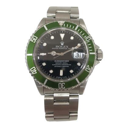 "Rolex Submariner with After Market Rolex ""Kermit"" Bezel"
