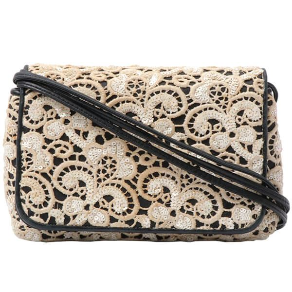 fd92aa4350ea Chanel Flower Sequin CC Mark Stitch Shoulder Bag Ivory/Black
