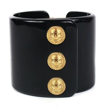 chanel-2018-bracelet-wide-cuff-black-gold-logo-cc-charms-xs-new