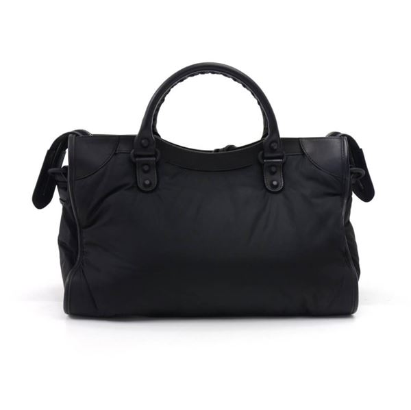 balenciaga-black-nylon-leather-classic-motorcycle-city-shoulder-bag-fw-2014-collection