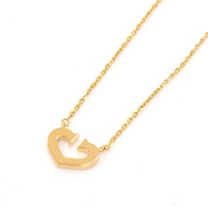 Cartier C de Cartier Heart 18K Yellow Gold Necklace