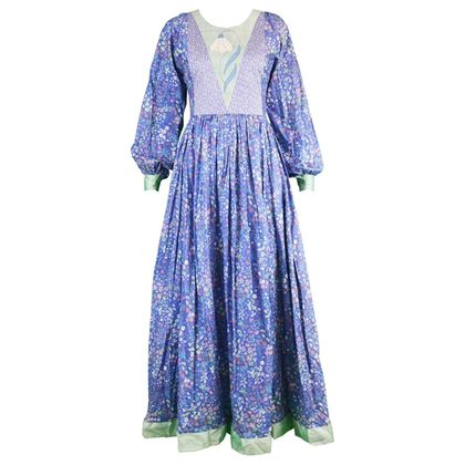 Liberty of London 1970s Vintage Floral Maxi Dress