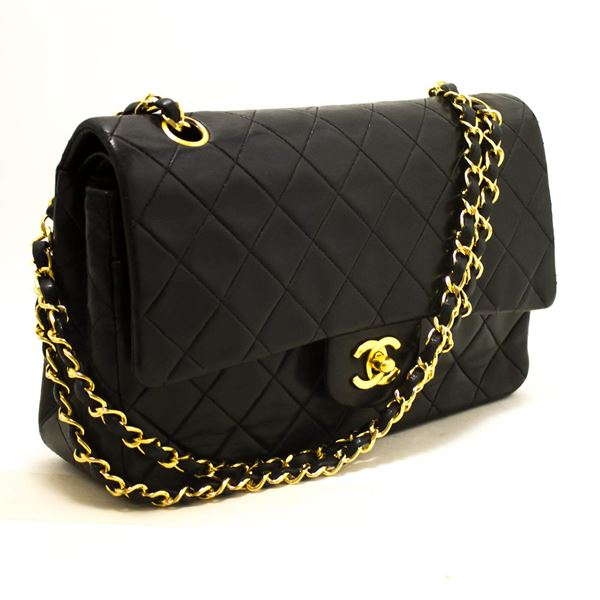1d7b5efebaa6 Chanel Black Quilted Double Flap Shoulder Bag - Best Quilt Grafimage.co