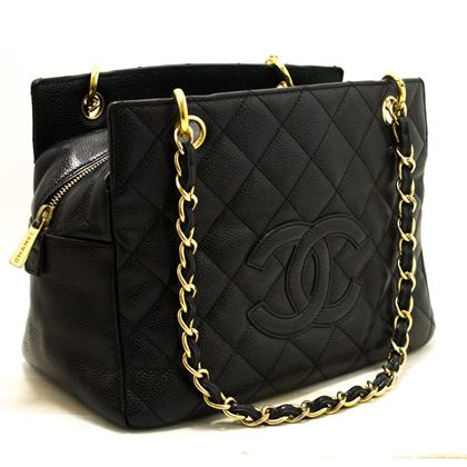 chanel-caviar-chain-shoulder-shopping-tote-bag-black-quilted-3