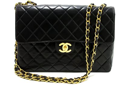 chanel-jumbo-11-large-chain-shoulder-bag-flap-lambskin-black-4
