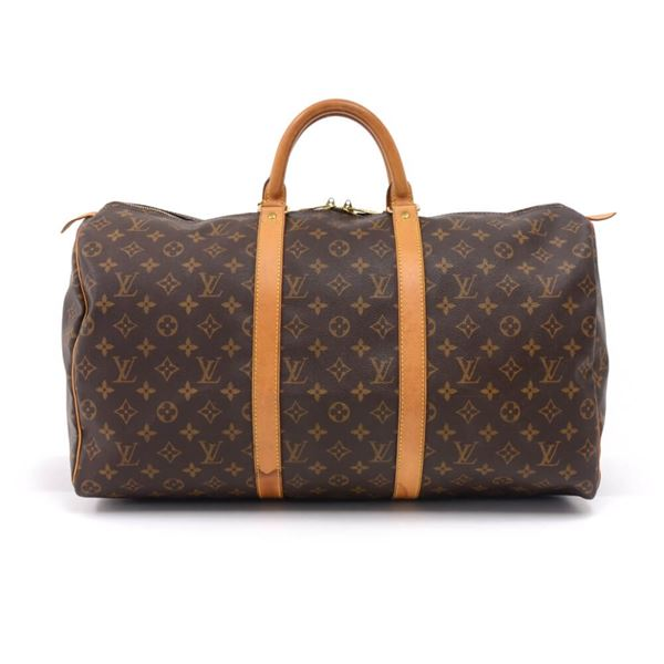 2e402bee038 Louis Vuitton Keepall 50 Monogram Canvas Duffle Travel Bag