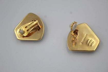 vintage-hermes-gold-plated-and-emanel-earrings