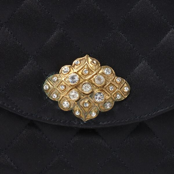 chanel-silk-satin-rhinestone-design-plate-pearl-shoulder-bag-black