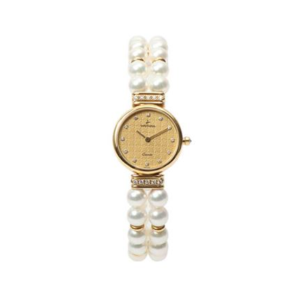 waltham-18k-diamond-pearl-round-face-watch