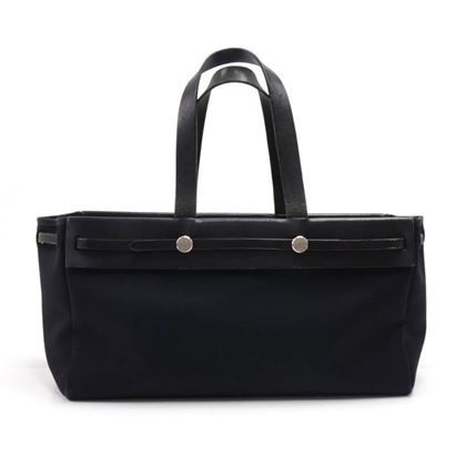 hermes-herbag-cabas-2-in-1-size-40-black-canvas-leather-tote-bag