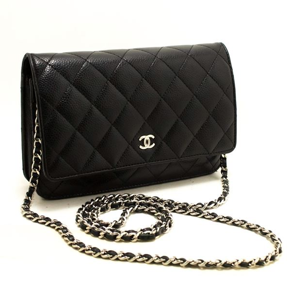 ... Shoulder Crossbody Bag. chanel-caviar-woc-wallet-on-chain-black-shoulder - 3735adcc852bf